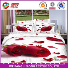 100% poliéster duvet cover cama conjunto com 3D design impresso folha de cama set