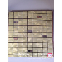 hangzhou Interior decoration self-adhesive metal aluminum mosaic tiles panel