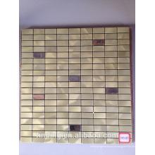 Hangzhou decoração Interior auto-adesivas de alumínio metal mosaico azulejos painel
