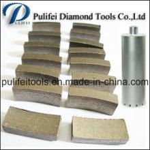Segment fritté de noyau de diamant de béton armé par plaquette frittée