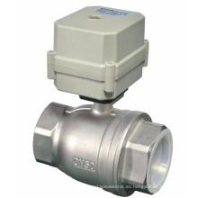 """Buen sellado 2 """"Aurtomatic de acero inoxidable eléctrico de la válvula de bola de agua motorizada (T50-S2-C)"""