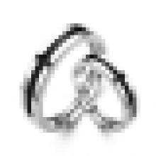 Moda Sterling Silver 925 Engagement Promise Casal Anel Set Presente para o amante