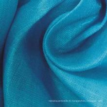 Tissu à 100% de tissu de couleur pleine couleur Ramie Plain Teinté