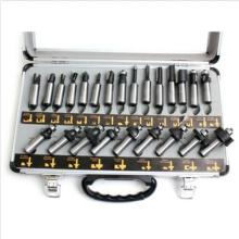 Juego de brocas de enrutador Caja de herramientas de brocas de vástago