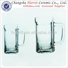 Venta al por mayor de China Cerveza de vidrio / doble vidrio de pared / copa de vidrio de beber con la manija