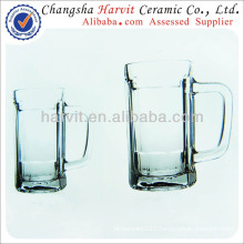 China Wholesale Glass Beer / Double Wall Glass / Drinking Glass Cup With Handle