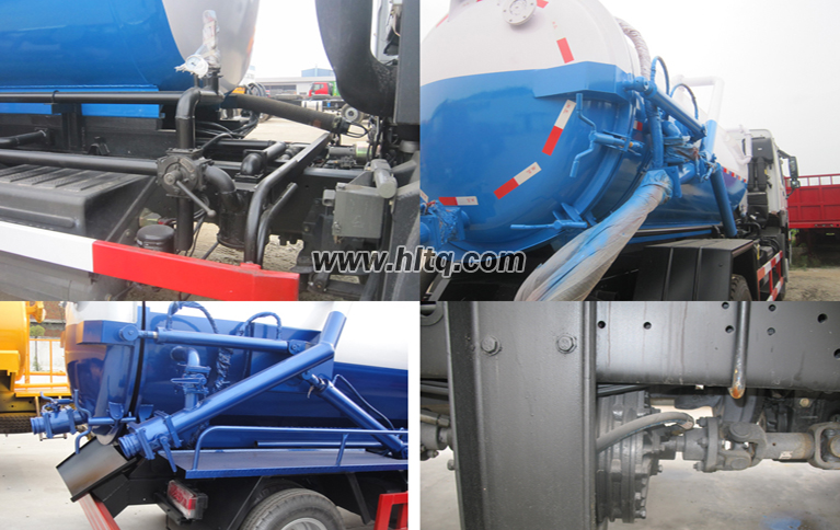 Vacuum sewer cleaning truck