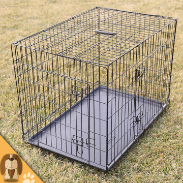 Cage pliable de chien d'animal familier de fil durable