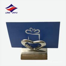 Edelstahl Lasering Ihr Logo Business Name Kartenhalter