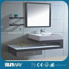 Hot Cabinet de salle de bain en acier inoxydable avec miroir