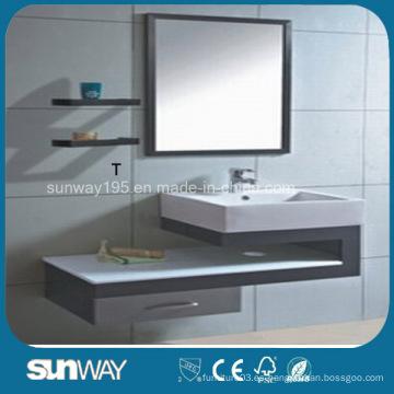 Gabinete de baño de acero inoxidable de venta caliente con espejo