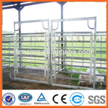 Tubo de acero corral paneles de cercado / galvanizado cabina caballo cerca paneles / metal ganado granja cerca panel