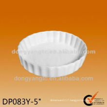 Customized wholesale ceramic white dinner plate , pizza plate manufacturers