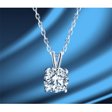 1 Carat Fashion Jewellery Jewelry Clavicle Chain Women Korean S925 Sterling Silver Simplicity Moissanite Diamond Necklace