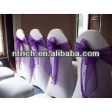 Boucles et ceinture de chaise d'organza