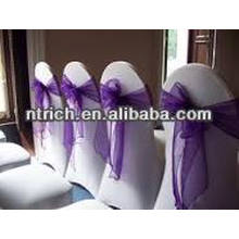 Organza chair sash and buckles