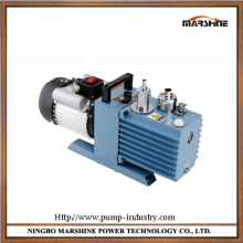 Horizontal double stage rotary vane type oil free vacuum pump