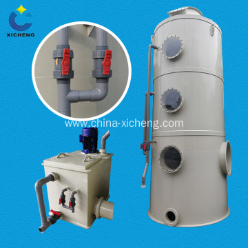 Industrial gas exhaust scrubber equipment