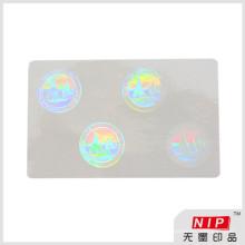 Niedrige Kosten 84 * 52mm Kleber transparente ID Hologramm Aufkleber