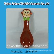 Cuillère en céramique de singe coloré au prix du commerce