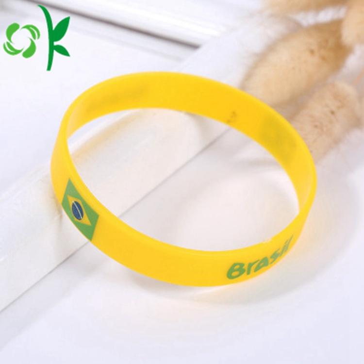 Yellow And Green Printing Logo Bracelet