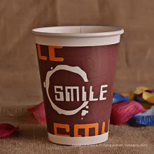 Tasse en papier à simple paroi de 14 oz