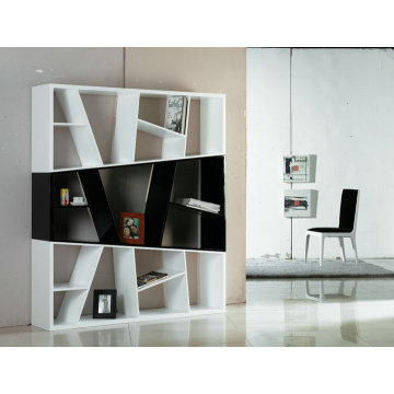 Contemporary wooden bookcase white room divider