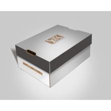 Caixa de sapatos de moda papar com logotipo de estampagem a quente / logotipo UV