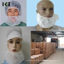 Máscara não tecida descartável da barba com elásticos dobro Kxt-Nbc03