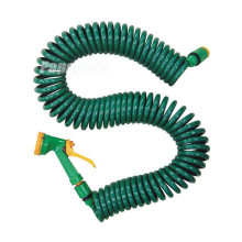 Coiled Garden Hose with Connector