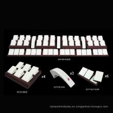 Venta al por mayor elegante del soporte de la joyería de la PU del barniz elegante (WST-X1)