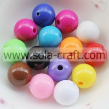 Good User Reputation for Round Acrylic Beads Colorful Acrylic Crystal Round Beads Ball With Opaque Color supply to Papua New Guinea Factories