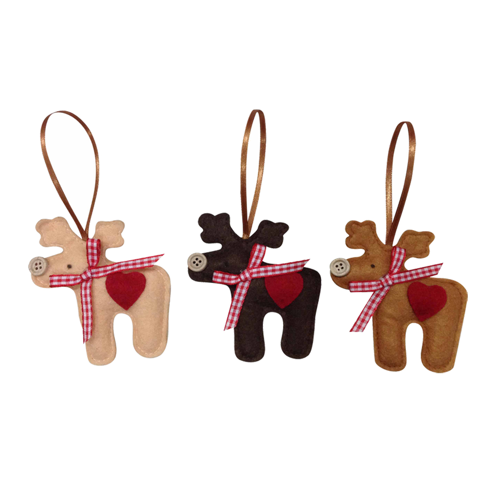 Mini Christmas Reindeer Hanging Ornaments