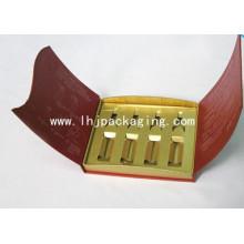 Caja de papel de embalaje de cosméticos de oro de alta calidad con estampación de láminas
