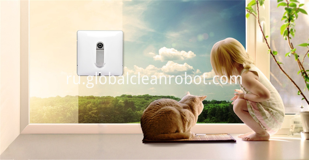 offcie window robot cleaning