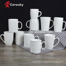 Tasses de porcelaine personnalisées blanches approuvées par la FQ CIQ