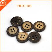 natural wooden button garment four hole button