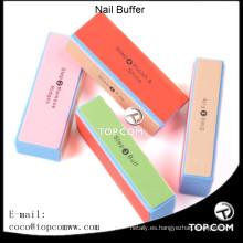 4 Vías de colores Nail Art Buffer Pulido Lijado de bloques cuadrados