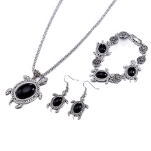Fashion jewelry Sets Animal Shape Pendant Set Antique Silver Plated Jewelry