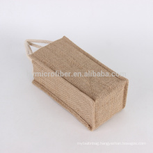Breathable eco friendly recycled jute wine bag with low price