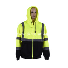 High visibility reflective fluorescent hoodies
