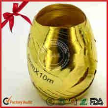 Ovo de ondulação da fita do presente brilhante da decoração do Natal para o empacotamento