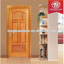 Puerta de madera maciza de caoba, madera sólida de la puerta principal del diseño, puerta de madera sólida de la puerta de madera sólida