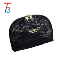 custom leather cosmetic bag packaging case lace luxury makeup bag