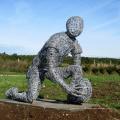 2018 hochwertige Gartendekoration Edelstahl Draht Skulptur
