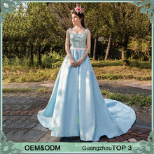 Long party frock designs blue vestidos de fiesta evening dress elegant evening gowns evening wear for ladies