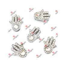 10mm Slide Crystal Palm Charms Schmuck für Slide Geschenke (CJG50919)