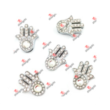 10mm Slide Crystal Palm Charms Jewelry for Slide Gifts (CJG50919)