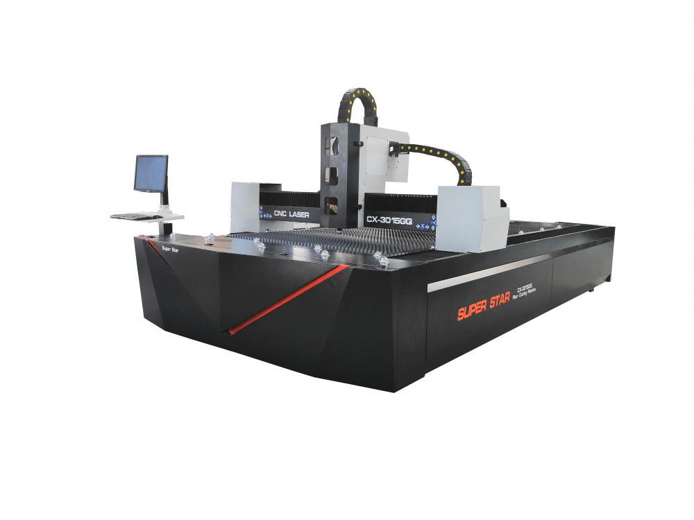 Fiber laser cutting machine with Racuys/IPG laser