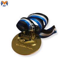Promotion gift shiny gold metal gold medal